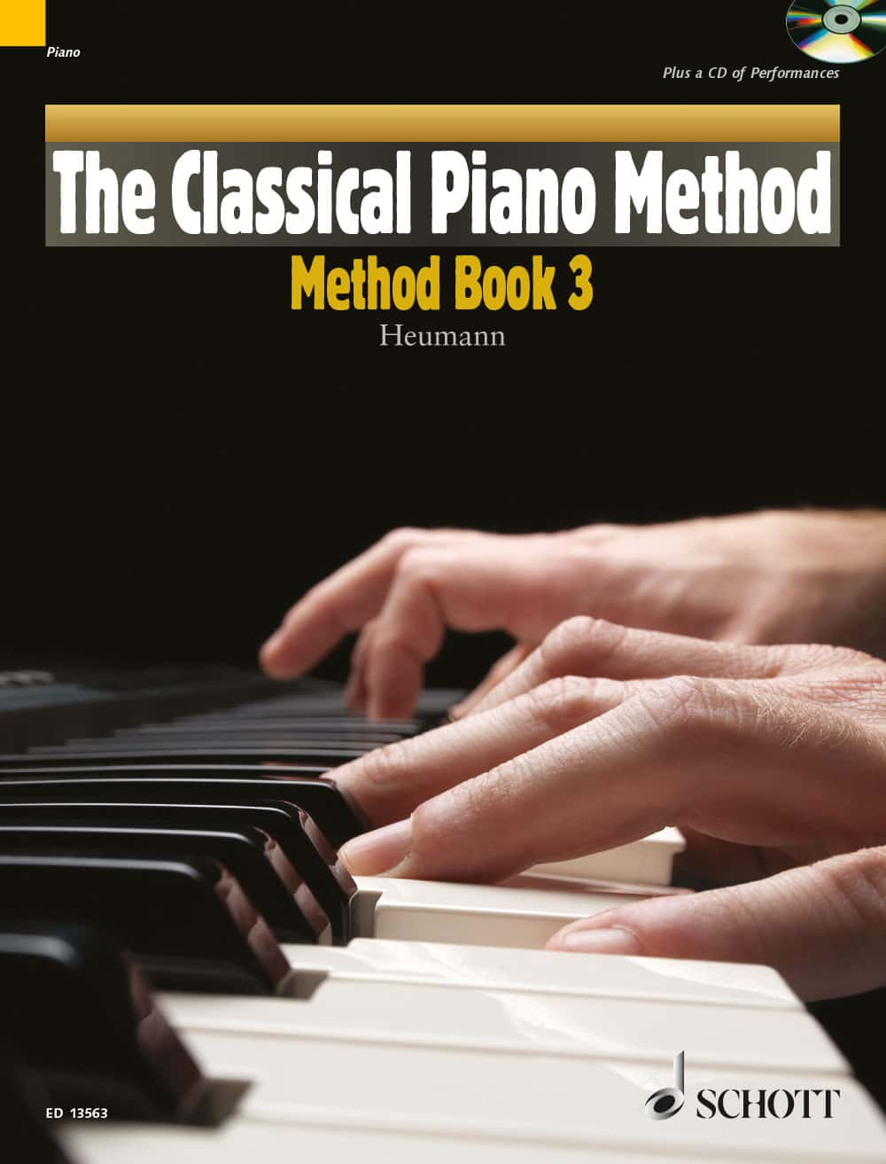 Cover - Heumann, The Classical Piano Method, Method Book, Book 3