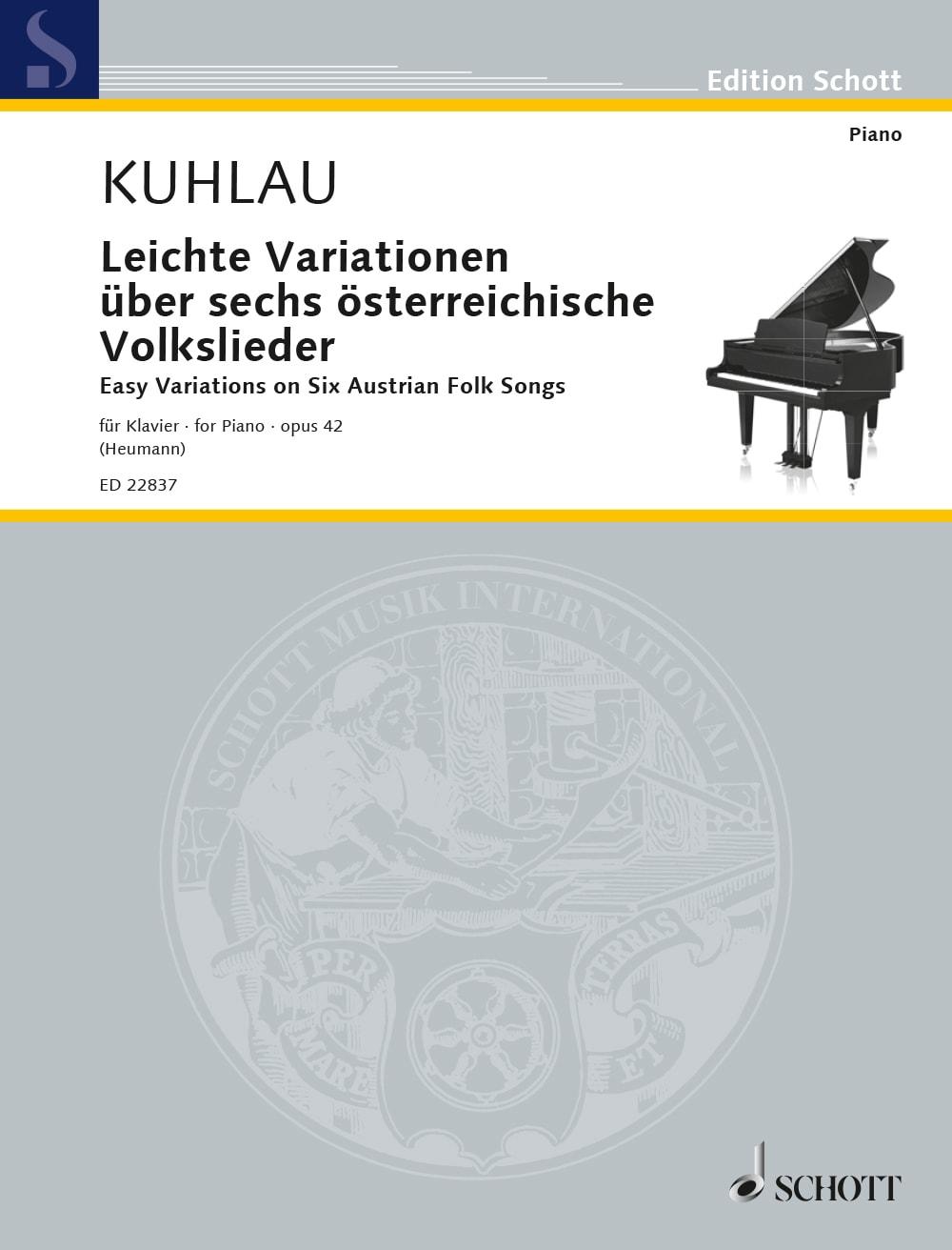 Kuhlau: Leichte Variationen über sechs österreichische Volkslieder op. 42