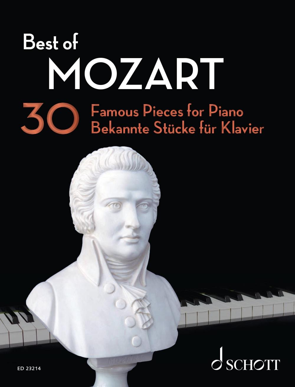 Best Of Mozart: 30 bekannte Stücke für Klavier